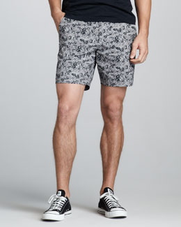 Theory Karl Printed Shorts