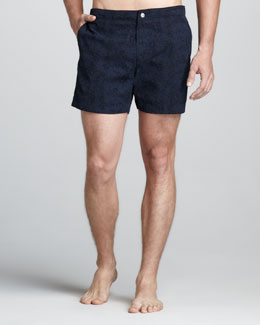 Theory Kosmor Printed Swim Trunks
