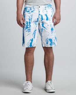 Original Paperbacks St. Bart's Printed Shorts, Blue Jay