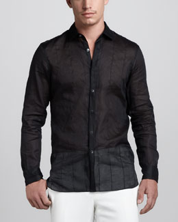 Lanvin Sheer Stitched Shirt