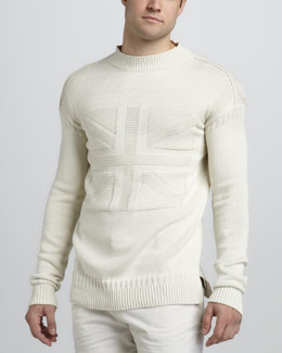 McQ Alexander McQueen Textured Union Jack Sweater