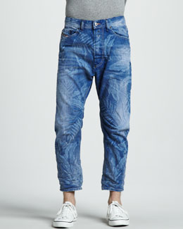 Diesel Cropped Carrot Jeans