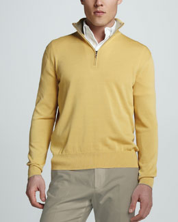 Loro Piana Cotton-Silk Zip Sweater
