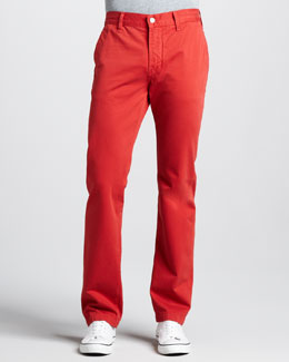 7 For All Mankind Slimmy Twill Pants, Passion Red