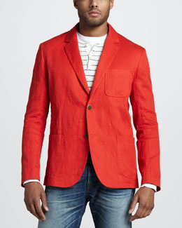 Vince Linen-Cotton Blazer