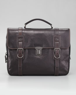 Prada Glace Buckle Briefcase Bag