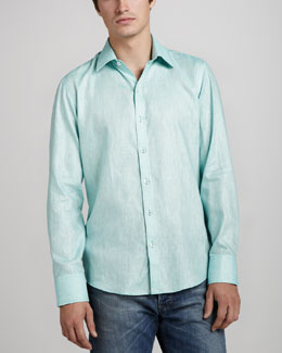 Zachary Prell Moncrease Linen-Cotton Sport Shirt