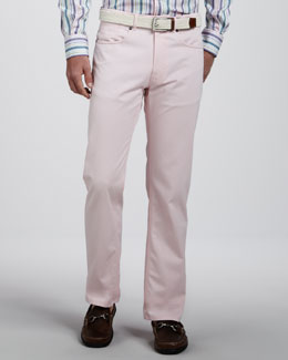 Peter Millar Roberson Cotton-Linen Pants