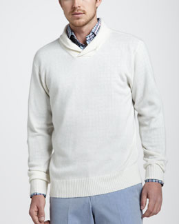 Peter Millar Cotton-Linen Shawl Sweater