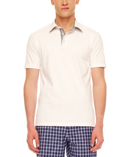 MICHAEL KORS Contrast-Collar Polo
