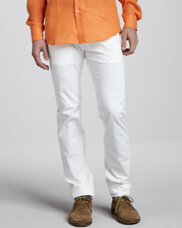 Ralph Lauren Black Label Slim Jeans, White