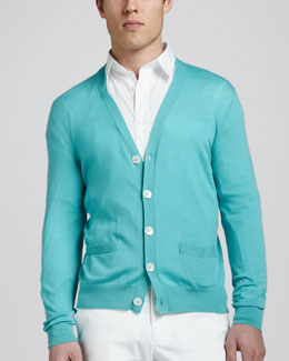 Ralph Lauren Black Label Ribbed Cotton Cardigan
