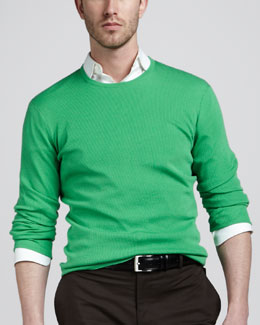 Ralph Lauren Black Label Ribbed Crewneck Sweater