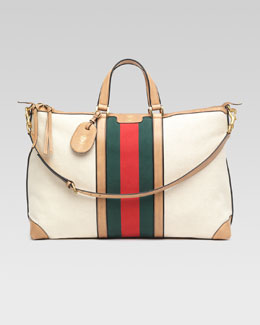 Gucci Canvas Top-Handle Duffel Bag