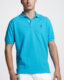 Polo Ralph Lauren Custom-Fit Polo, Delray Blue