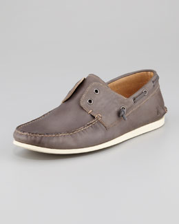 John Varvatos Star USA Schooner Boat Shoe, Dark Gray