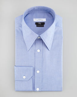 Versace City Fit Woven Shirt, Navy