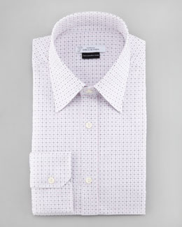Versace Check Sport Shirt, White/Purple