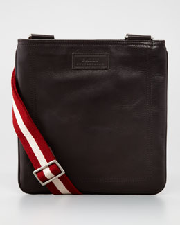 Bally Taisten Web-Strap Crossbody Bag, Brown