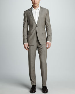 Hugo Boss Sharkskin Suit, Tan