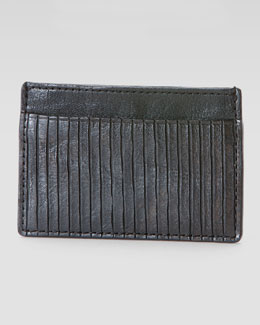 Frye James Veg Cut Card Case, Black