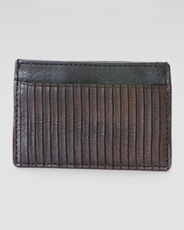 Frye James Veg Cut Card Case, Dark Brown