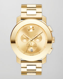Movado Bold 43.5mm Bold Chronograph Watch, Golden