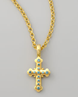 Elizabeth Locke Byzantine Cross Pendant, Small