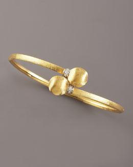 Marco Bicego Africa Pave Engraved Gold Bracelet