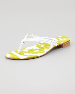 Manolo Blahnik Tarantina Leather Thong Sandal