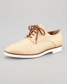 Fendi Marcello Lace-Up Raffia Oxford