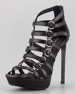 Saint Laurent Nina Caged Platform Sandal