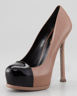 Saint Laurent Tribute Two Two-Tone Platform Sandal