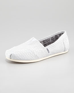 TOMS Snake-Embossed Slip-On, Neutral