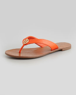 Tory Burch Thora Leather Thong Sandal, Orange