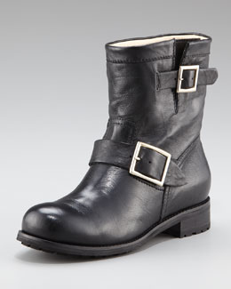 Jimmy Choo Youth Biker Ankle Boot