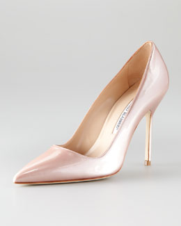 Manolo Blahnik BB Liquid Patent Leather Pump