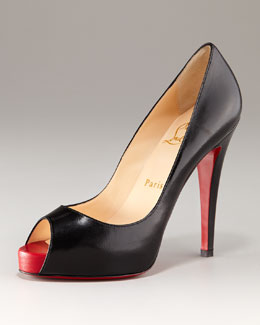 Christian Louboutin Very Prive Open-Toe Platform Pump