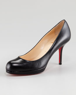 Christian Louboutin Prorata Leather Platform Red Sole Pump