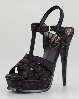 Yves Saint Laurent Tribute Textured Sandal