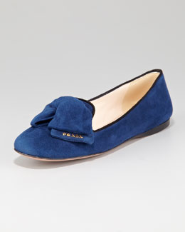 Prada Suede Bow Slipper