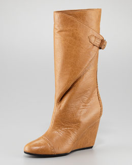 Balenciaga Arena Brogues Wrap Wedge Boot