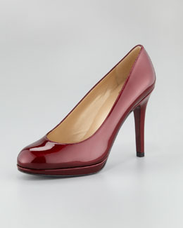 Stuart Weitzman Platswoon Patent Leather Pump, Red