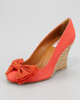 Lanvin Ballerina Espadrille Wedge, Red