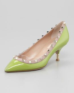 Valentino Rockstud Metal Heel Pump, Pop Apple
