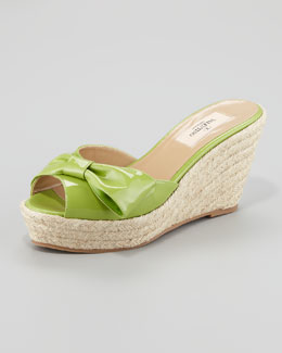 Valentino Mena Espadrille Slide, Pop Apple