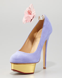 Charlotte Olympia Dolly Removable-Strap Platform Pump, Lavender