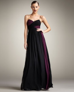 Robert Rodriguez Black Label Camille Two-Tone Gown