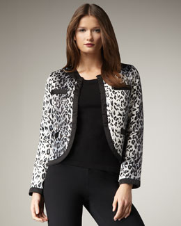 Michael Simon Animal-Print Jacket