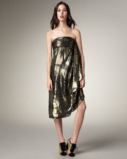 MARC by Marc Jacobs Printed Lame Dress